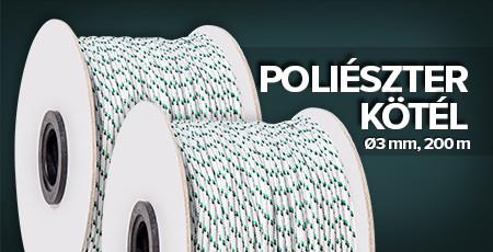 Poliészter kötél ø3 mm, 200m