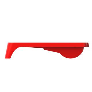 Festékes tál, 36x23cm - piros